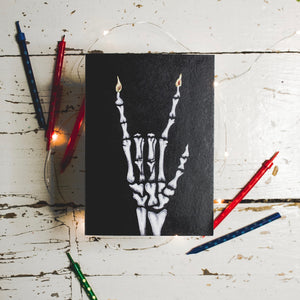 Rock Out Skeleton  - Gothic Birthday Card