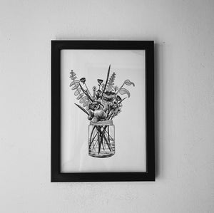 Jar of Flowers Print