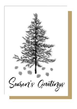 Emma Inks Studio Christmas Tree Seasons Greetings Card