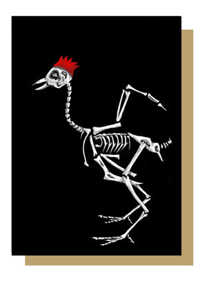 Turkey Skeleton Alternative Christmas Card