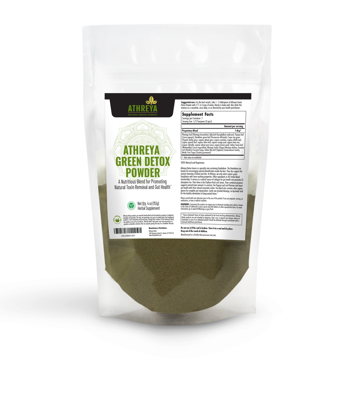 Athreya Green Detox Powder