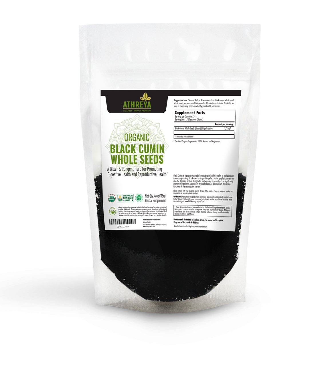 Organic Black Cumin Whole Seeds