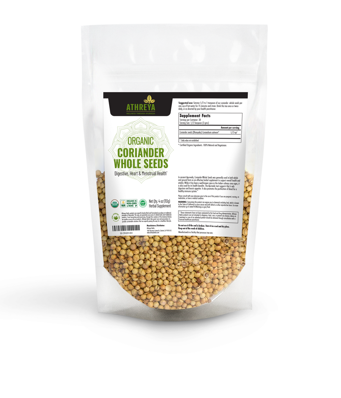 Organic Coriander Whole Seeds