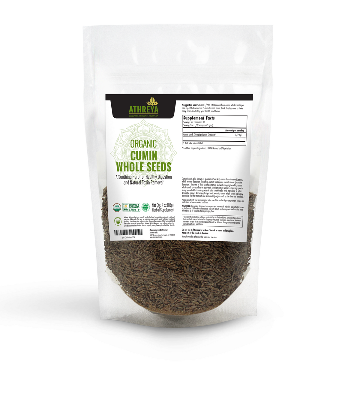 Organic Cumin Whole Seeds