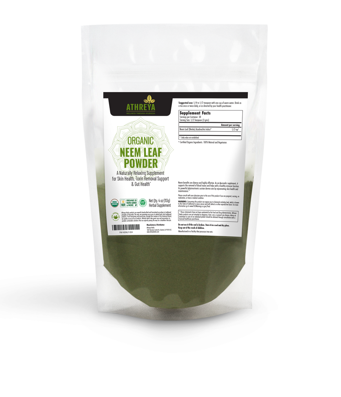 Organic Neem Leaf Powder
