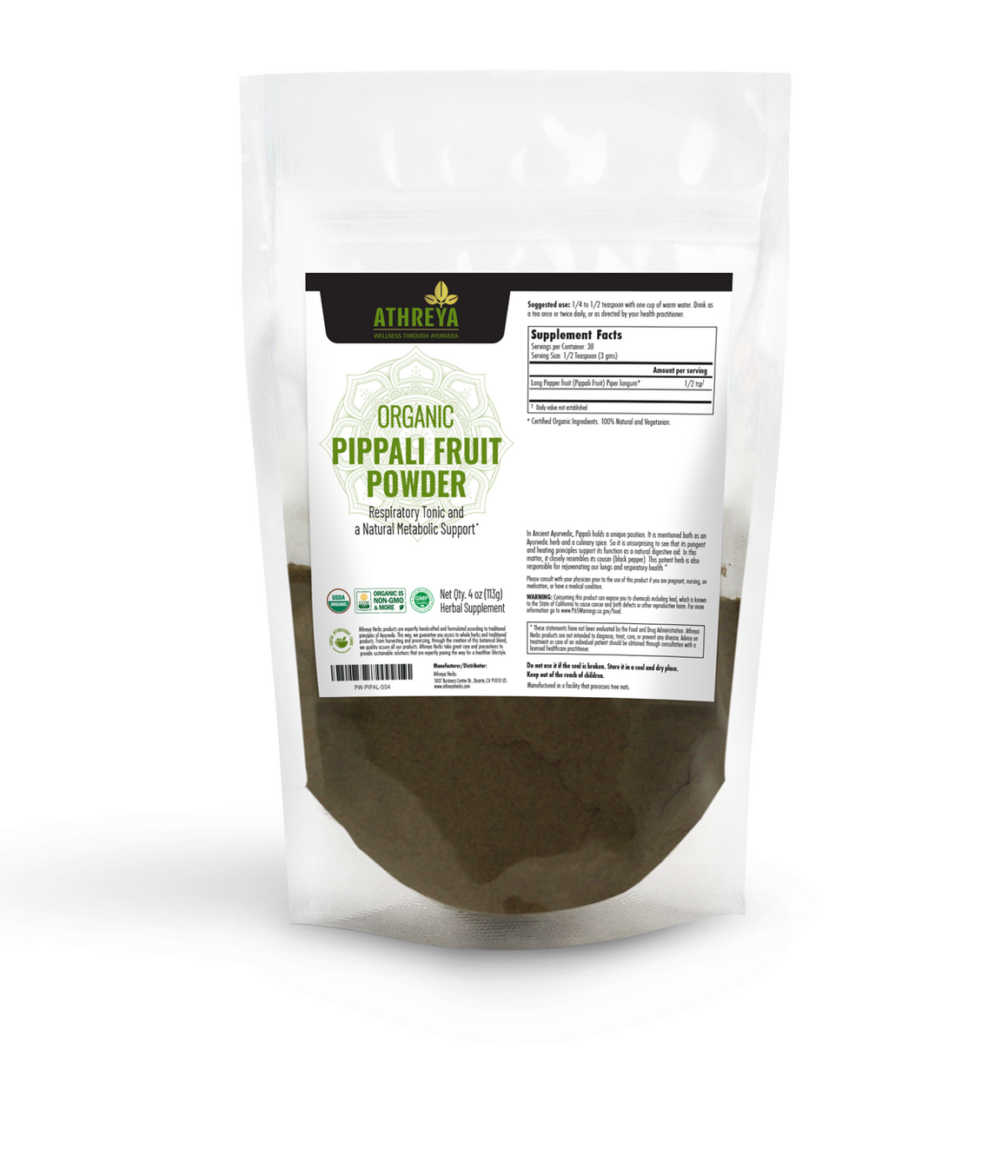 Organic Pippali Fruit Powder