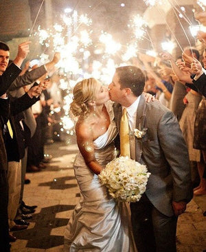 Light up the Night with 36 Inch Sparklers for Weddings