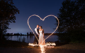 ViP Sparklers is the Place to Buy the Best Heart Shaped Wedding Sparklers!