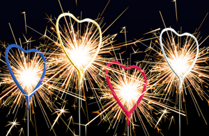 Use Heart Shaped Sparklers As Your Cake Topper