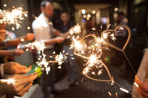 Using Heart Sparklers At Weddings