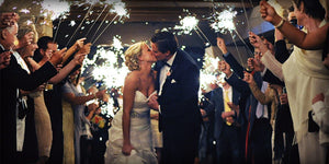 Indoor Smokeless Sparklers for Weddings are Safer than the Alternative
