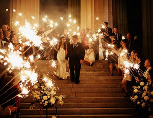 Get the Whole Shebang with Indoor Sparklers for Your Wedding