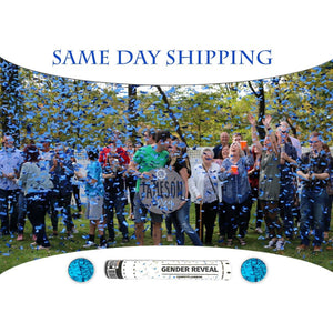 same day shipping blue confetti