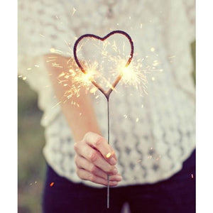 Gold Heart Sparklers