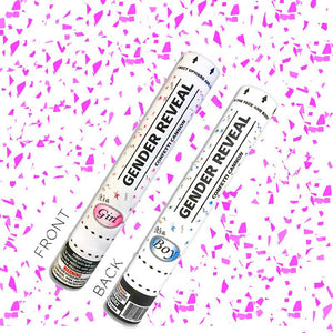 gender reveal confetti cannon pink