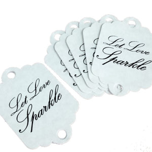 sparkler tags wedding