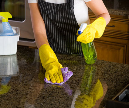 how to clean granite and marble counters