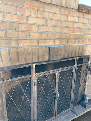cleaning smoke on brick or natural stone fireplace