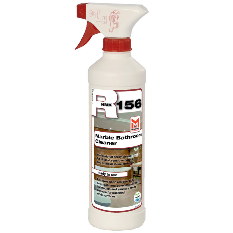 HMK® R156 Marble & Bathroom Daily Cleaner Spray - Half Liter. Safe for Delicate Stone