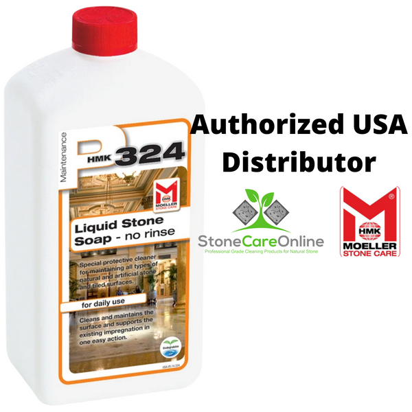 authorized US distributor of HMK P324 Liquid Stone Soap maintenance cleaner for all natural stone surfaces