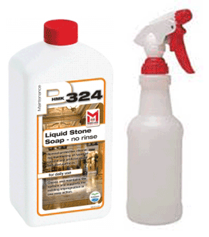 Daily Stone Maintenance Kit - HMK P324 Stone Soap + Spray Bottle Combo