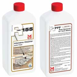 Rust Remover for Natural Stone Combo Pack HMK R777 and R155 Intensive Cleaner