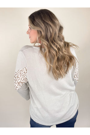 Dorota Leopard Knit Top