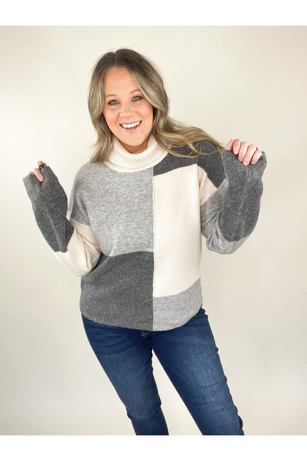 Up North Color Block Sweater