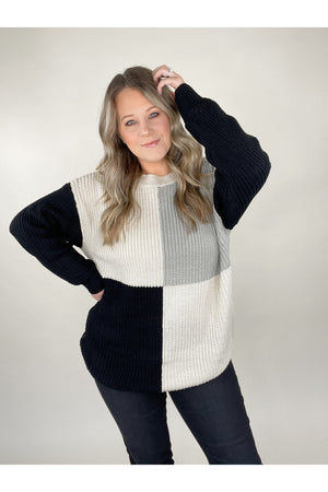 Tinley Color Block Sweater