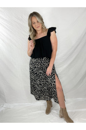 Lexi Animal Print Midi Skirt