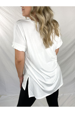Simply Stevie Oversized Tee (Ivory)