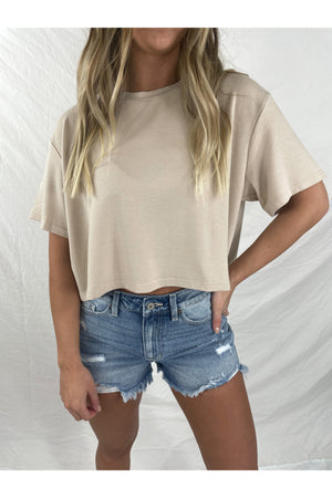 Helena Crop Top in Taupe
