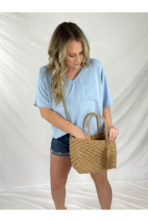 Skylar Straw Purse