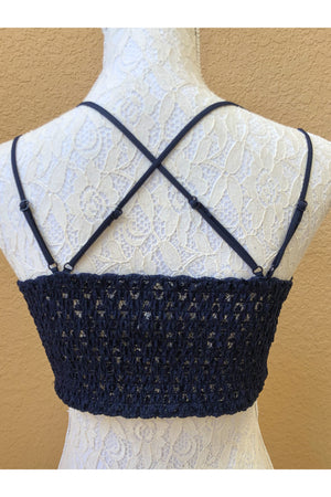 Navy Blue Bralette