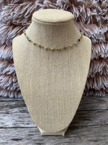 Neutrals and Gold Simple Choker