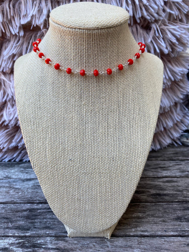Orange and Silver Simple Choker