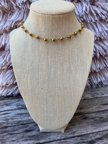 Gold and Gold Simple Choker