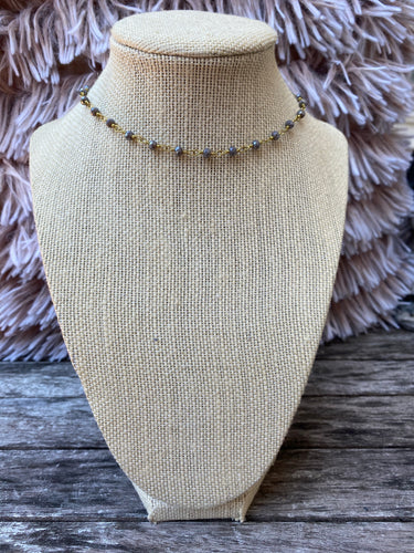 Gray and Gold Simple Choker