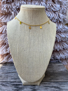 Gold Coin Dangle Choker