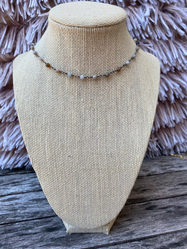 Neutrals and Gunmetal Simple Choker