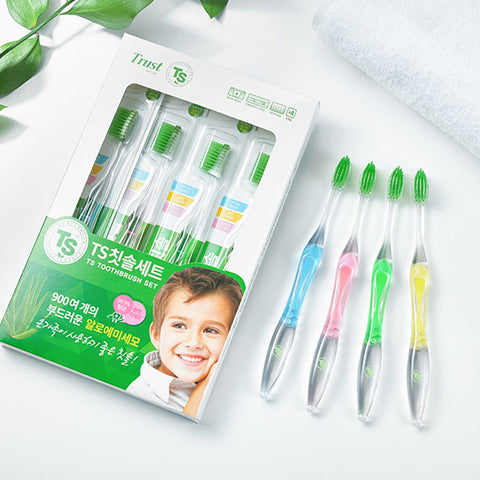 TS Toothbrush Set 4 Colours