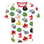 Kinder T-Shirt klein Kinder T-shirt Angry Birds Kartoon Top Tee Sommer Tee Rundhals