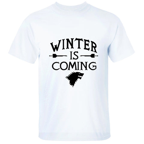 GOT 8 Game of Thrones Staffel 8 GOT WINTER IS COMING Stark T-Shirt Tee Top Hemd Rundhals Kurzarm