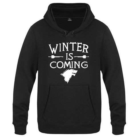 GOT 8 Game of Thrones Staffel 8 GOT WINTER IS COMING Stark Hoodie Pullover mit Kaputze Pulli Erwachsene