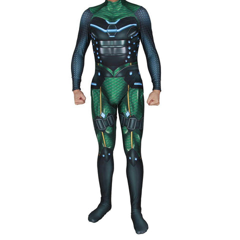 Marvel Comic Con Spider Man Far From Home Superschurken Mysterio Quentin Beck Jumpsuit Suit Cosplay Kostüm Erwachsene Druck - Karnevalkostüme