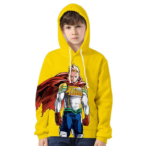 Kinder Hooded Sweatshirt Million Druck Hoodie My Hero Academia Pulli Kaputzepullover