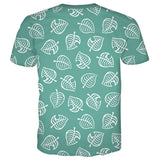 Animal Crossing T-shirt Tee Top Erwachsene Weiß Tee Kurzarm Rundhals