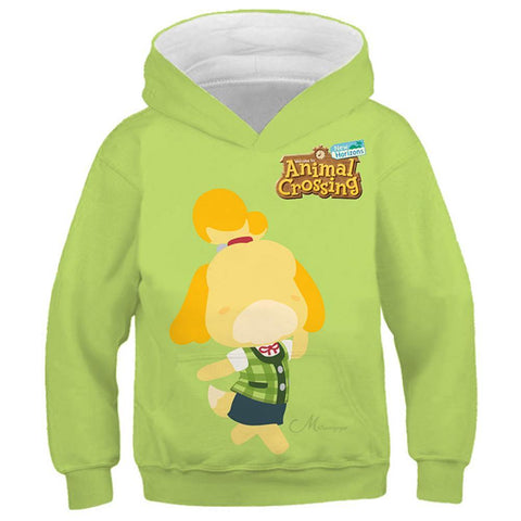Spiel Animal Crossing Isabelle Cosplay 3D-Druck Hoodie Kinder Hooded Sweatshirt Pullover - Karnevalkostüme