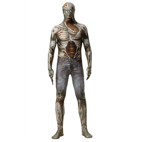 Zentai Halloween Jumpsuit Herren Overall Morphsuits Zombie Morphsuit Ganzkörperkostüm für Party Mottoparty Themenparty