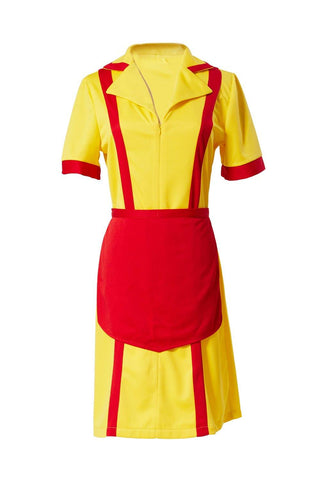 2 Broke Girls Max Caroline Kellnerinnen Uniform Kleid Cosplay Kostüm Karneval für Mottoparty